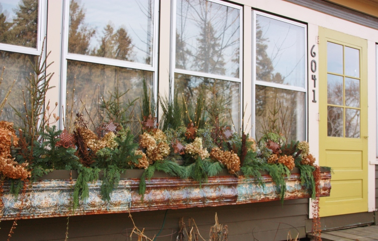 the winter window box.