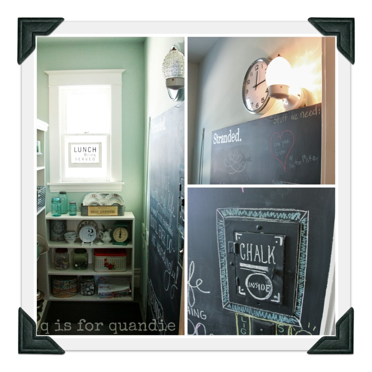 pantry chalkboard collage