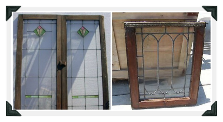leaded window collage