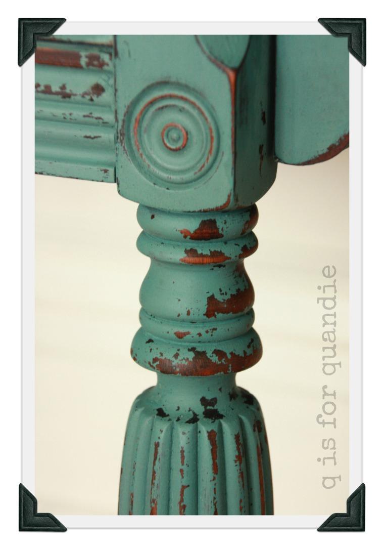 vintage buffet leg detail