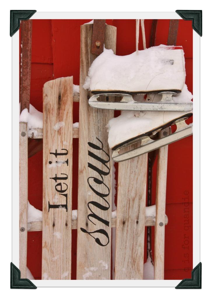 snowy sled