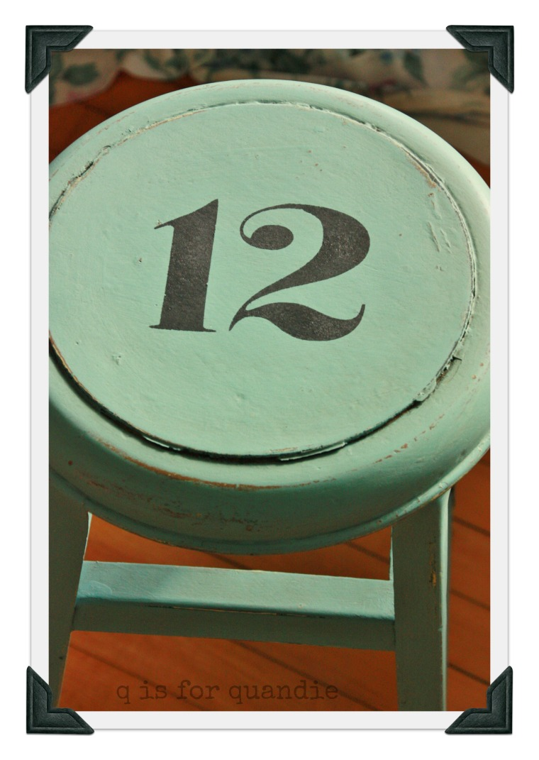 stool stenciled