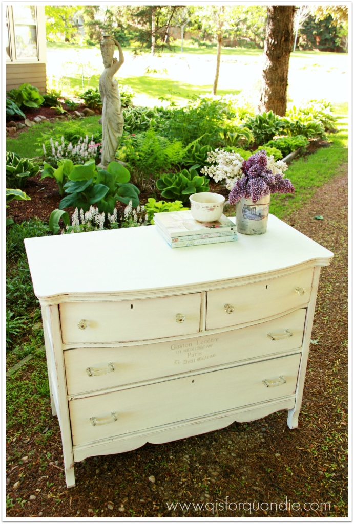shabby chic white garden view