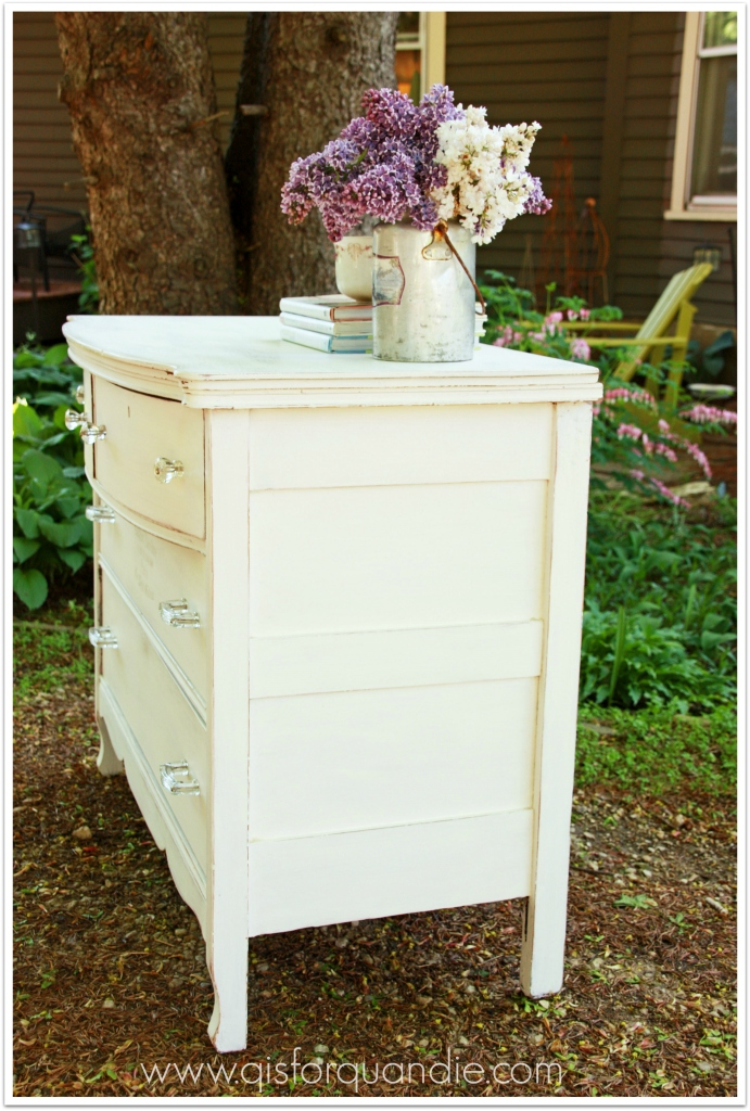 shabby chic white side view