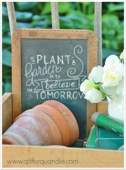plant a garden slate