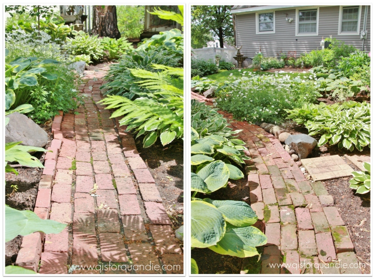 Sue's brick path collage
