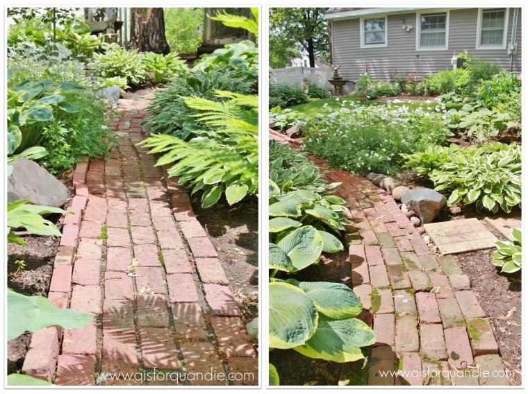 Sue's brick path collage
