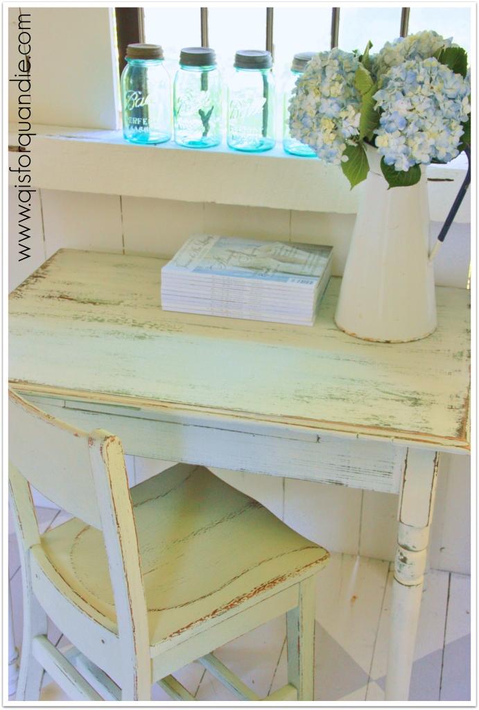farm table as desk