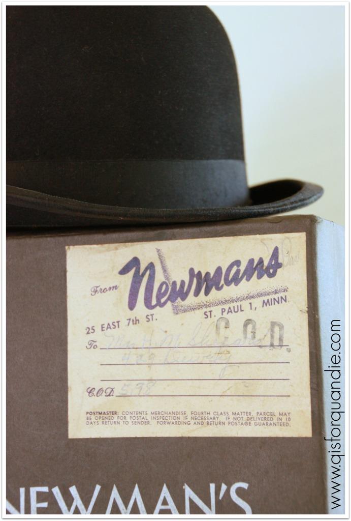 Ken's hat label