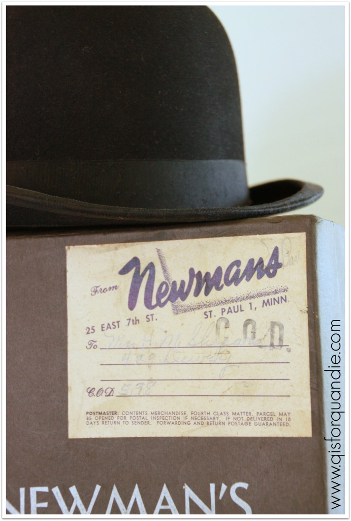 Ken's hat label