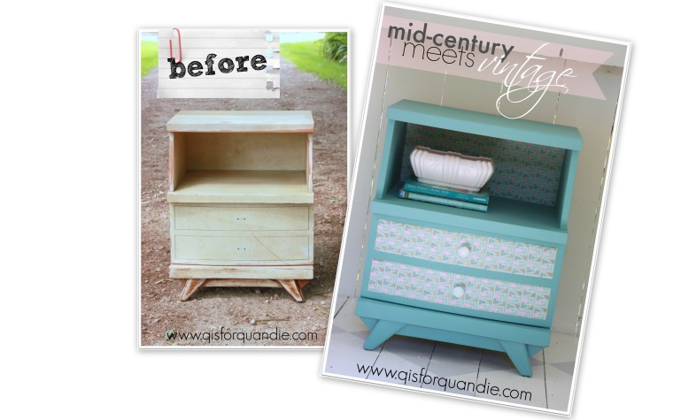 Provence nightstand before and after