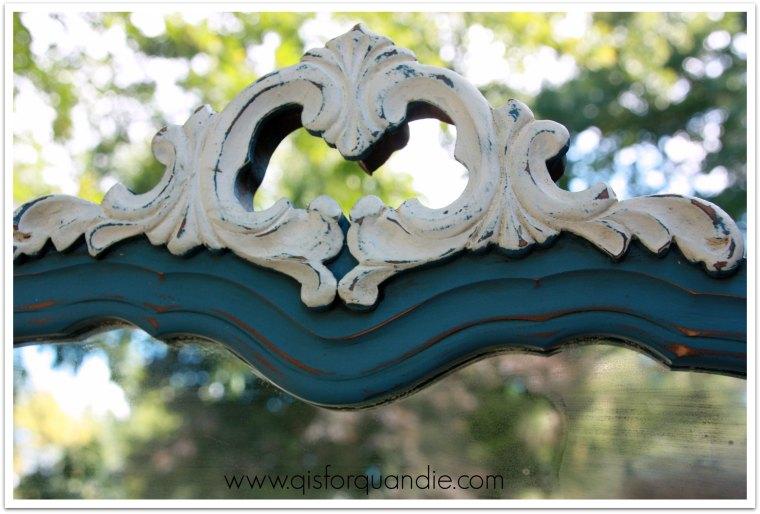 Aubusson dresser mirror detail