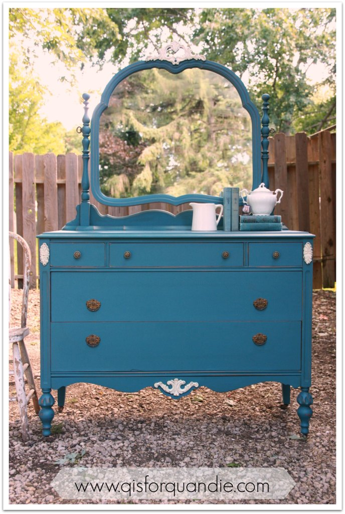 Aubusson dresser outside