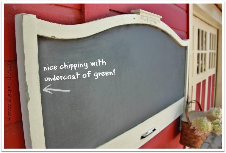 chalkboard close up