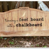 turning a foot board into a chalkboard.