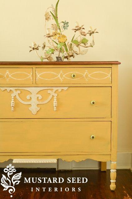 MMS yellow dresser