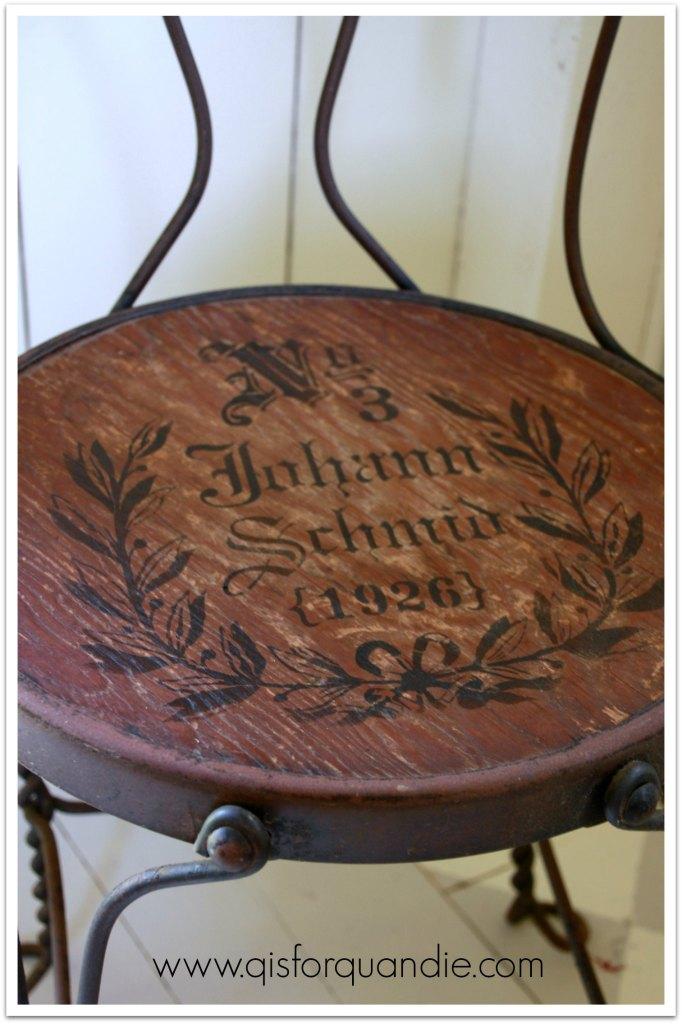 stenciled chair 2