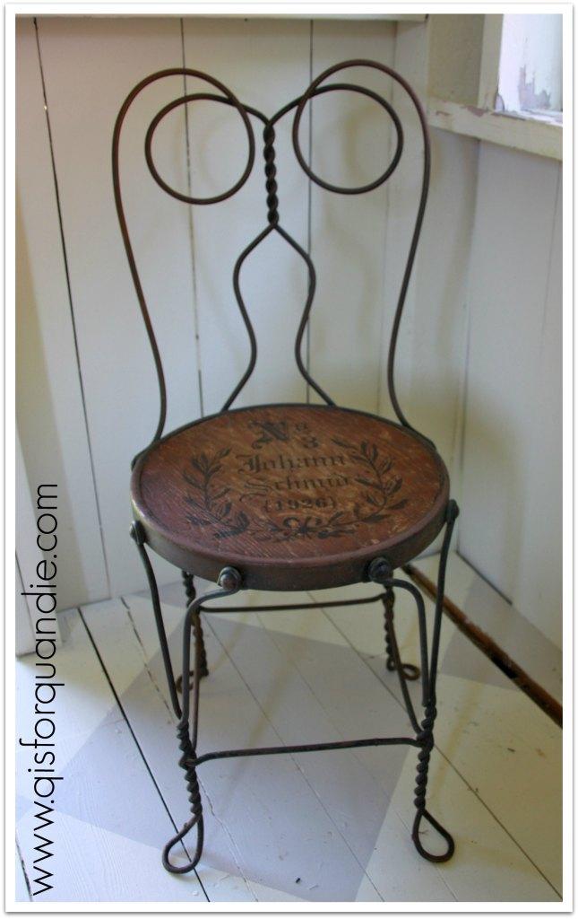 stenciled chair 3