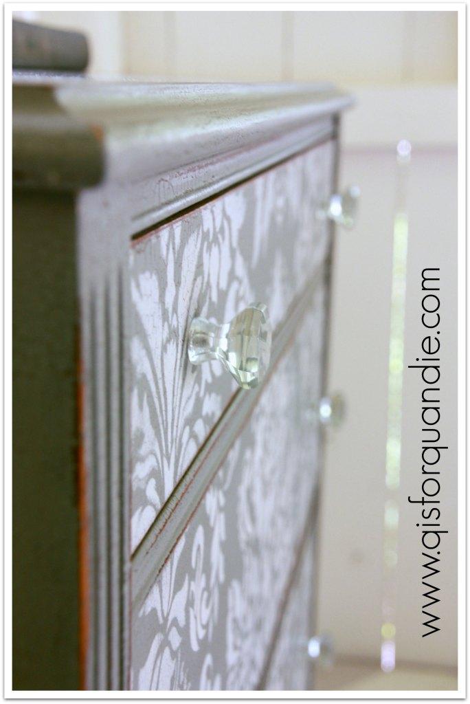stenciled dresser knobs