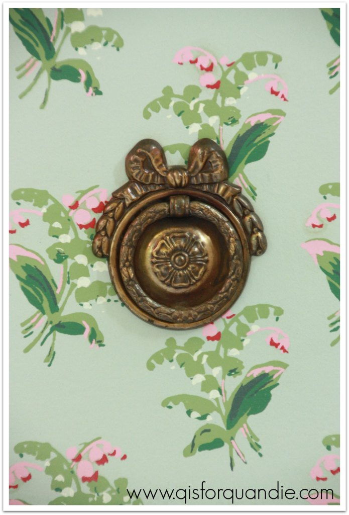 wallpaper dresser hardware