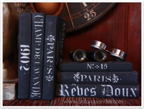 painted and stenciled books