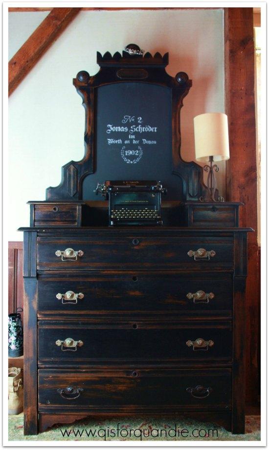 Dresser with owl pulls