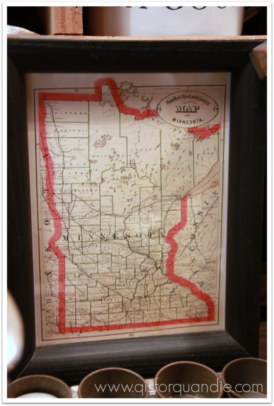vintage MN map