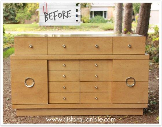 vintage blonde dresser