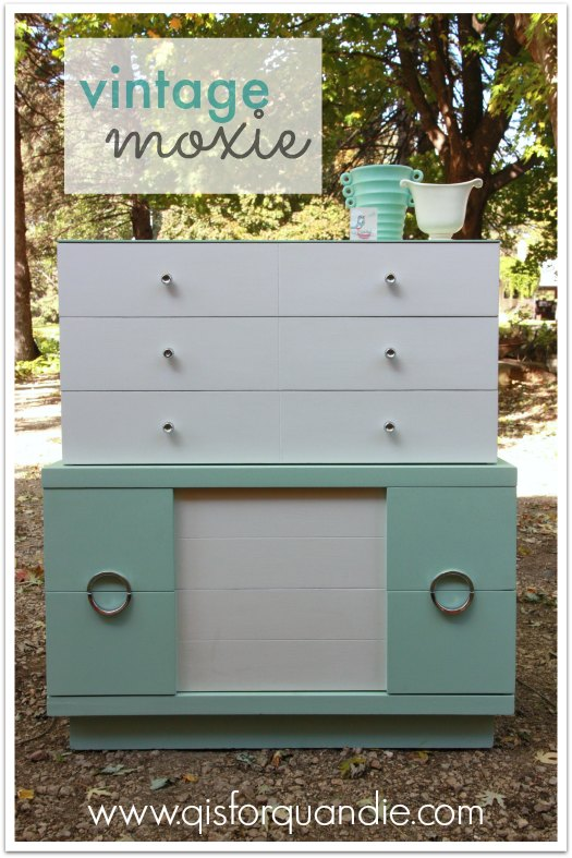 dresser painted in Aloe
