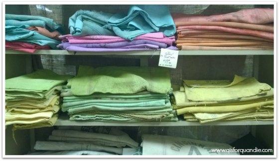 dyed grain sacks