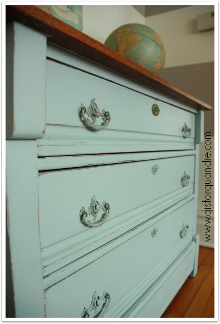 painted Eastlake dresser