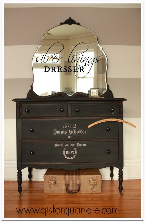dresser painted with MMS milk paint in Typewriter