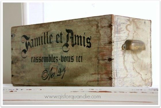 stenciled box