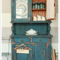 a chippy farmhouse cupboard.