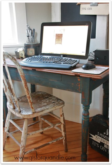 desk with chippy chair