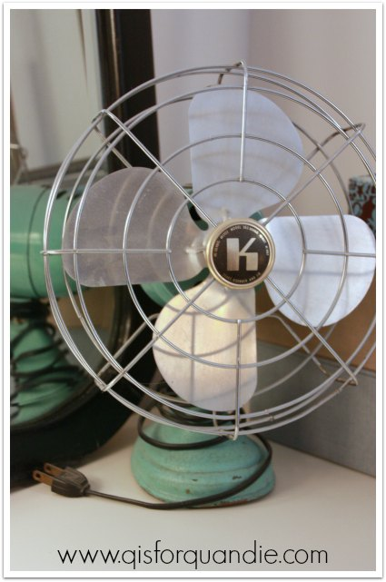 vintage aqua fan
