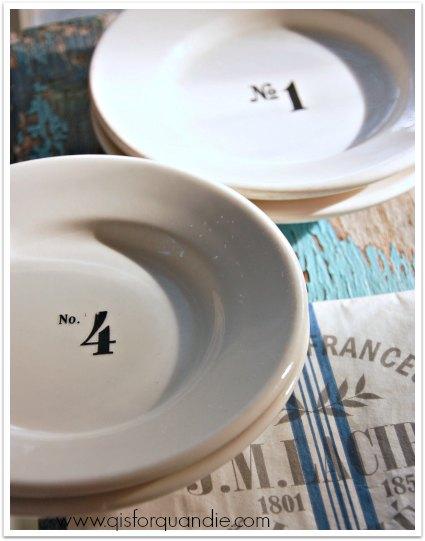 thrift store plates rehabbed 2