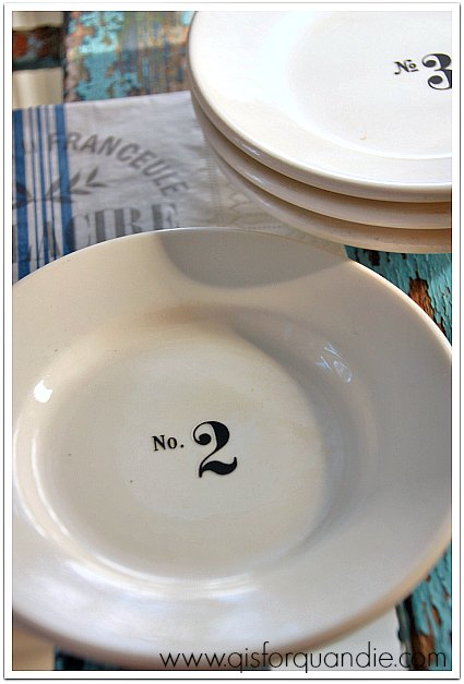 thrift store plates rehabbed