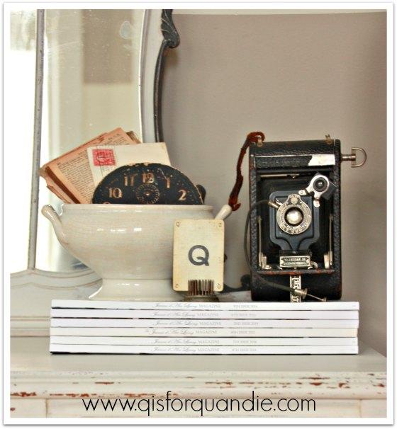 vintage vanity staging