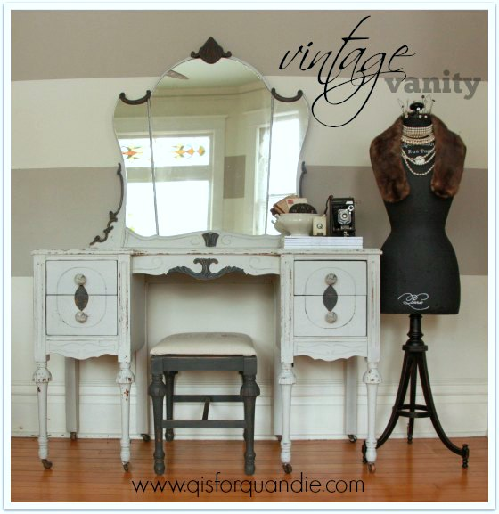 vintage vanity painted in MMS milk paint
