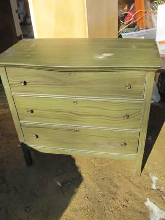 dresser, olive green