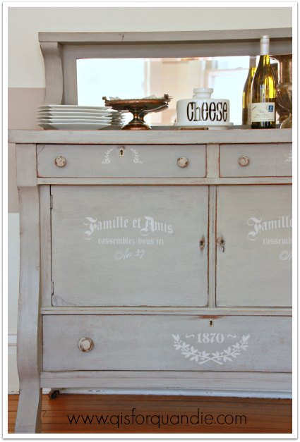 stenciled buffet