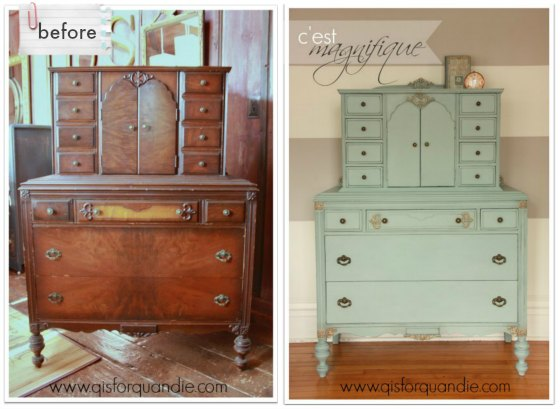 french dresser before and after
