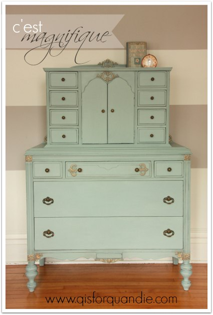 Dresser painted in Annie Sloan Duck Egg