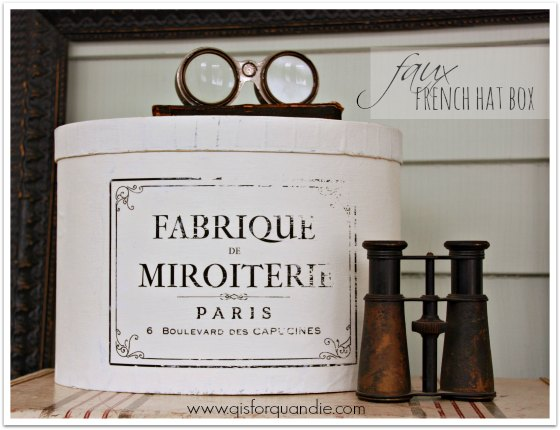faux french hat box