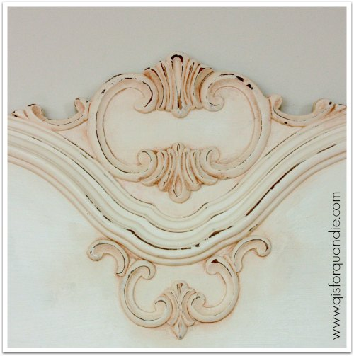 paris bed headboard detail