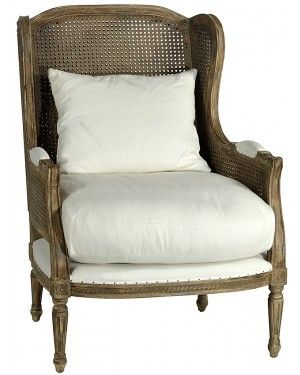 wing back cane chair