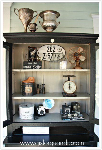 front porch hutch display