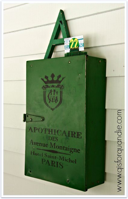 green apothicaire cabinet