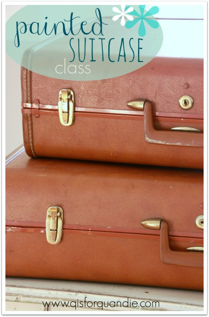 painted suitcase class